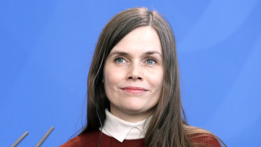 Prior commitments: Prime Minister of Iceland Katrin Jakobsdottir.