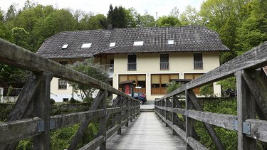 The guesthouse in Passau where the bodies of three guests were found.