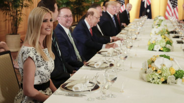 Ivanka Trump during Prime Minister Scott Morrison and US President Donald Trump's working dinner during the G20 Summit in Osaka, Japan.