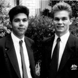 Brad Maloney and Steve Corica back in 1992, when they were playing in the Olyroos together.