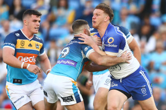 The Titans moved to a crucial 14-point lead just minutes after Dylan Napa was sent to the sin bin.