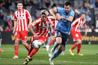 Lachlan Wales, right, will transfer from Melbourne City to Western United.