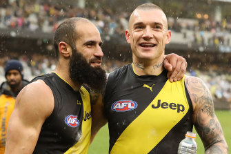 Close ties: Bachar Houli and Dustin Martin.