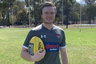 Austin O'Connor-Stubbs' dream job at Essendon lasted five months.