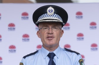 Deputy Commissioner Mal Lanyon announced a major operation to target breaches of COVID-19 health orders in south-west Sydney.