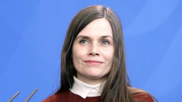 Prior commitments: Prime Minister of Iceland Katrin Jakobsdottir.