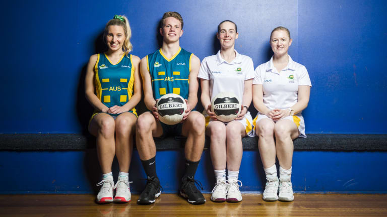 ACT netballers Tamara Weatherburn, Josh Rochow, Christina West and Carly Brown have all represented Australia recently. Rochow and West are currently on tour in New Zealand.