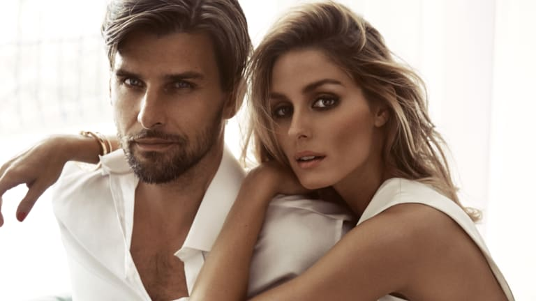 Model Johannes Huebl and his wife, fashion Influencer and model, Olivia Palermo illustrate that male scents can work easily as well for women.