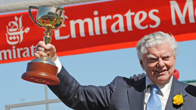 Bart Cummings with the 2008 Melbourne Cup.