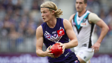 Stefan Giro is a chance to come into the Fremantle 22 for the 49th derby this weekend.