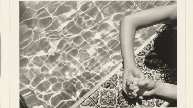 Christine Godden: 'Betsy's hands, by the pool', 1973, gelatin silver photograph, 15.2 x 22.1cm, National Gallery of Australia, Canberra, Gift of the artist 1987.