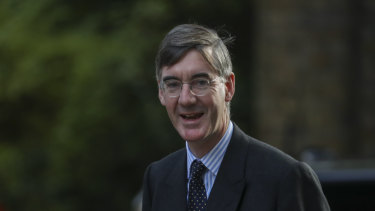 "May ""eat"" his words: Jacob Rees-Mogg, leader of the House of Commons."