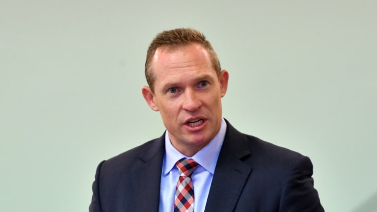 """Queensland Sport Minister Mick de Brenni lashed out, describing a """"prop"""" used by an LNP member as """"disgusting""""."""