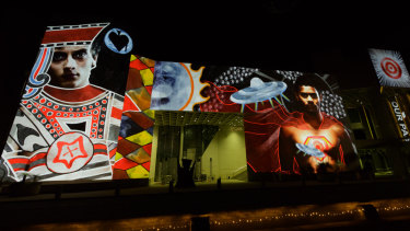 Tony Albert's I Am Visible is showing at the National Gallery of Australia as part of the Enlighten Festival.