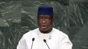 Sierra Leone President Julius Maada Bio.