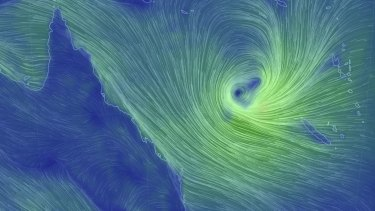 A tropical low in the Coral Sea is expecting to head south-west toward south-east Queensland on Tuesday.