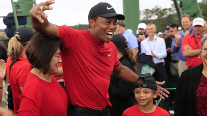 Great Tiger of old stalks the fairways at Augusta again
