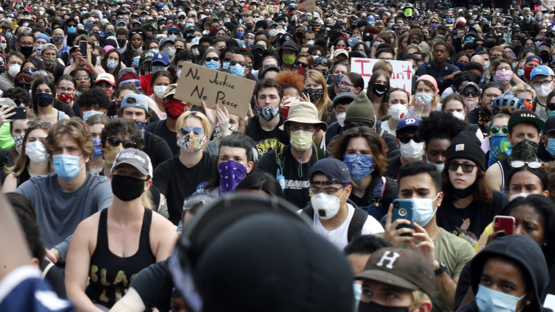 Racial injustice protests in top 25 virus hot spots stoke fears of contagion