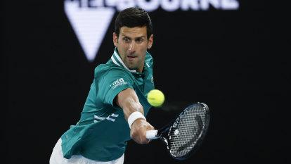 Djokovic lets his tennis do the talking