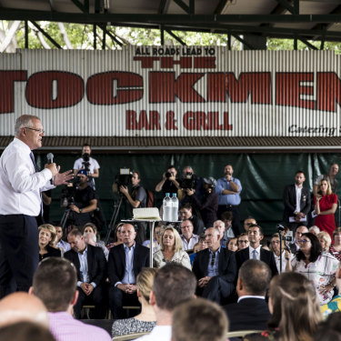 Scott Morrison was joined by a slew of Coalition ministers for a campaign rally in Brisbane.