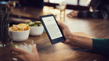 The new basic Kindle has a built-in light for reading in dim conditions.