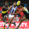 As it happened: Richmond Tigers rout North Melbourne Kangaroos, Gold Coast Suns scorch Sydney Swans, Brisbane Lions too good for GWS Giants