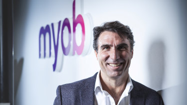 MYOB chief executive Greg Ellis is leading a move into invoice financing.
