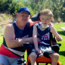 Grant Doylewith his son Kobi. The Doyle family has raised $2500 for this year's City2Surf.
