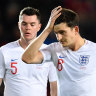 England's 10-year unbeaten qualifying run snapped in Czech defeat
