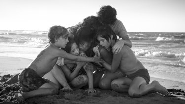 A scene from the film Roma.