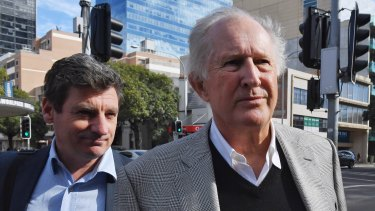 John Marshall, right, claims he headbutted his neighbour Peter Higgins in self-defence.