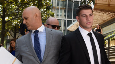 """Danny Eid (left) has accused the NRL of """"bullying"""" him and his client Curtis Scott into providing the body worn footage, which they do not have permission to hand over."""