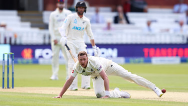 Ollie Robinson took two wickets on debut at Lord's before his day turned sour.