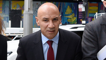 Moses Obeid arrives at the NSW Supreme Court in February.