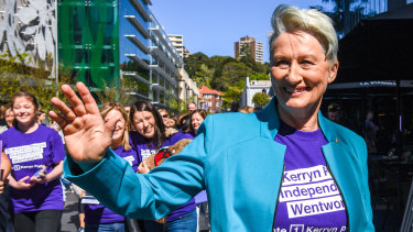 Kerryn Phelps at the official announcement of her candidacy for the seat of Wentworth.