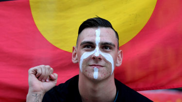 Dylan Voller, pictured in 2017, sued three media organisations for defamation.