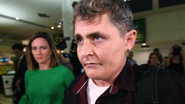 Bali Nine drug smuggler Renae Lawrence arrives at Brisbane airport on Thursday.