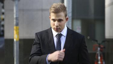 Kyle Daniels leaves court last week.