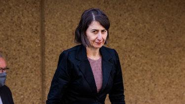 NSW Premier Gladys Berejiklian pictured on Wednesday.