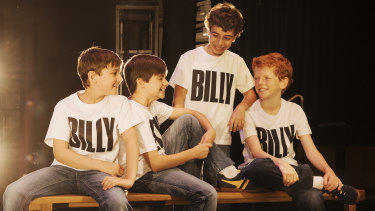 The four boys who will play Billy in the 10th anniversary tour: River Mardesic, Wade Nielsen, Omar Abiad and Jamie Rogers.