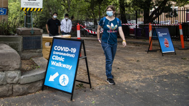 The number of COVID-19 cases in Sydney jumped to 61 on Tuesday, with the biggest cluster in the city's north-west.