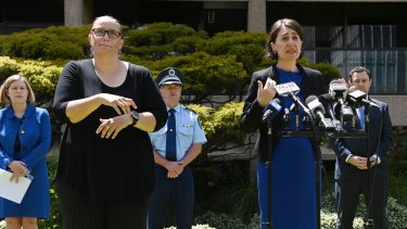 Premier Gladys Berejiklian  announces New Year's Eve plans on Thursday.