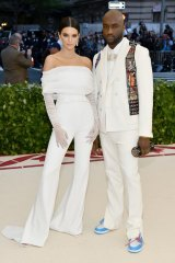 Kendall Jenner and Virgil Abloh arrive at the Met Gala.