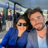 Premier Glady Berejiklian with Chris Hemsworth.