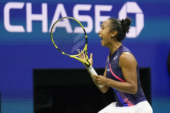 Leylah Fernandez is into the women's final at the US Open.