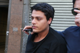 Mehdi Sameri leaves court after a  hearing in September.