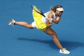 Paula Badosa battles Petra Kvitova at last year's Australia Open.