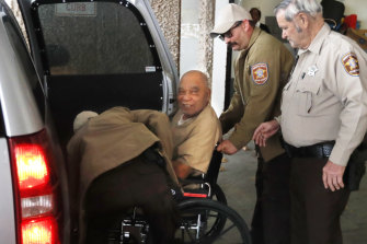 Samuel Little leaving the Ector County Courthouse in Odessa, Texas, in December last year after receiving another life sentence.