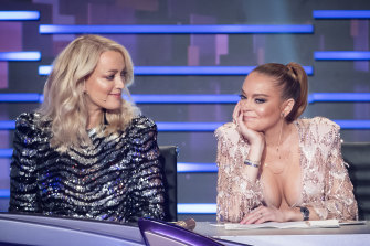 "Jackie ""O"" Henderson and Lindsay Lohan on the judging panel."