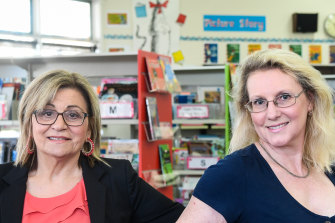 Meadowglen Primary School learning specialists Jenny Devlin and Caroline Gorrell will help students catch up from COVID shutdowns.